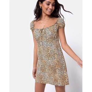 🔥SALE🔥Gavel Mini Dress - Mini Tiger Brown